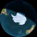 map of world with Antarctic centered