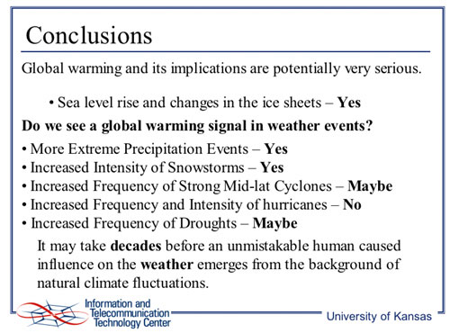 conclusion on climate change and its impact